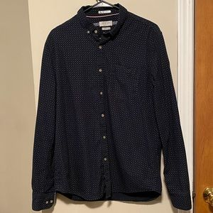 Navy blue with white dots shirt